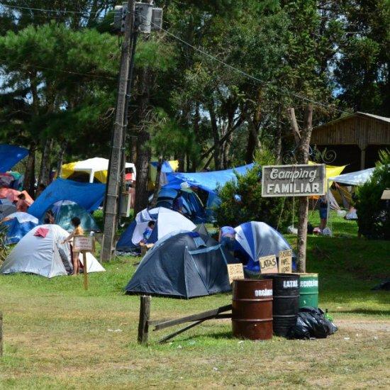 Psicodália 2012 - Camping com sistema de reciclagem