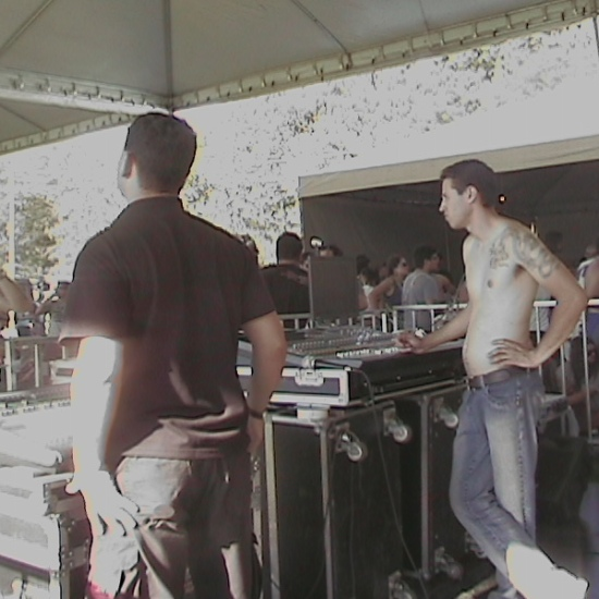 Psicodália 2012 - Mesa de som dos palcos