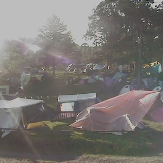 Psicodália 2012 - Sol torrando o acampamento