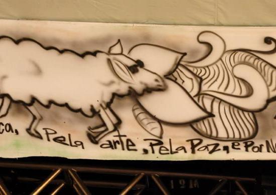 Psicodália 2012 - Ovelhas da moldura do palco psicodália