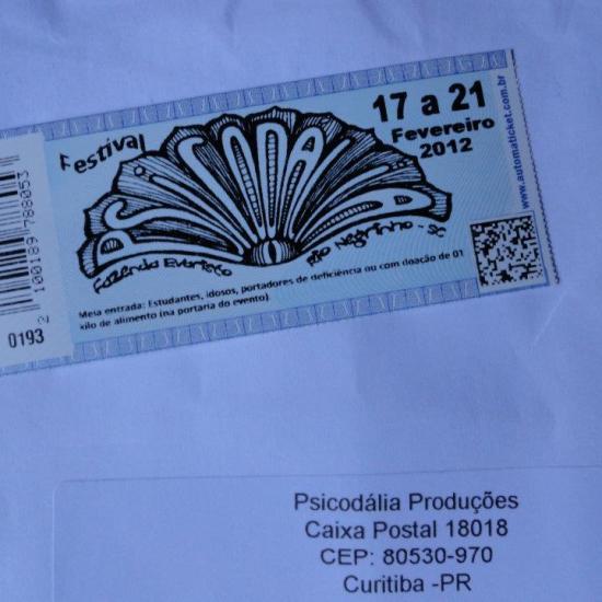 Psicodália 2012 - Ingresso